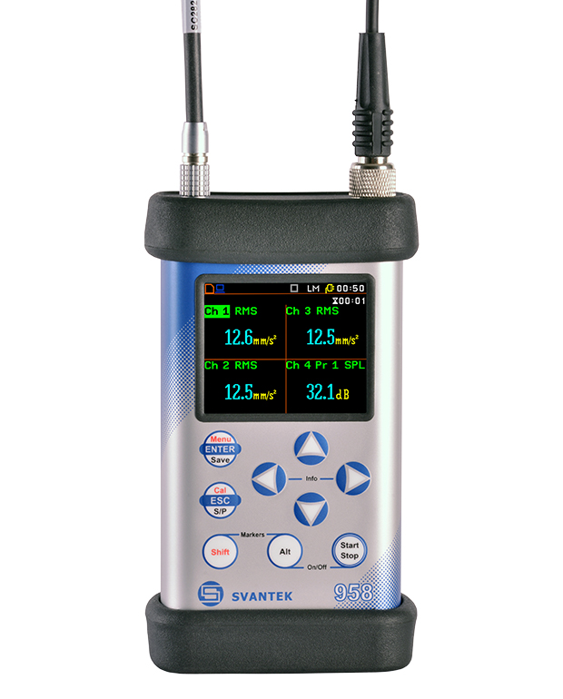 SVAN 958A – Four Channels Sound & Vibration Meter